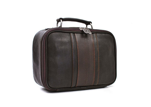 Rudyard Journey Tumbled Saddle Leather Shave Case