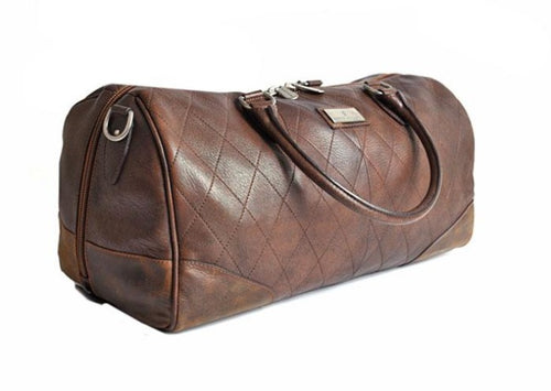Lodge Vintage Finish Quilted Saddle Leather Duffel Bag