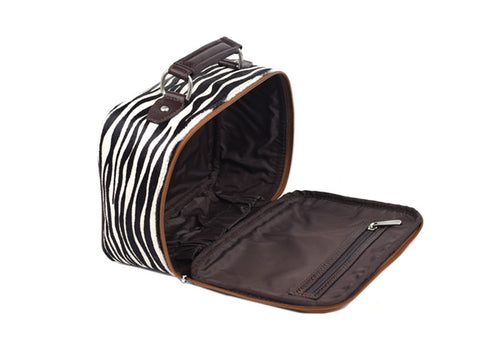 Safari Journey Shave Case - White Zebra