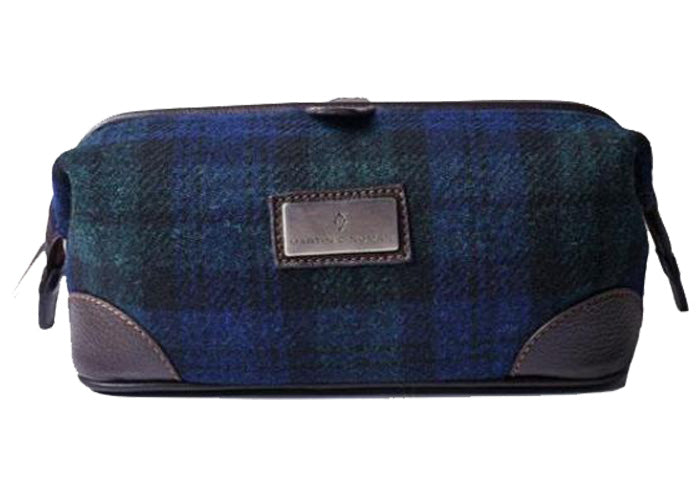 Official Harris Tweed Shave Case - Green Plaid