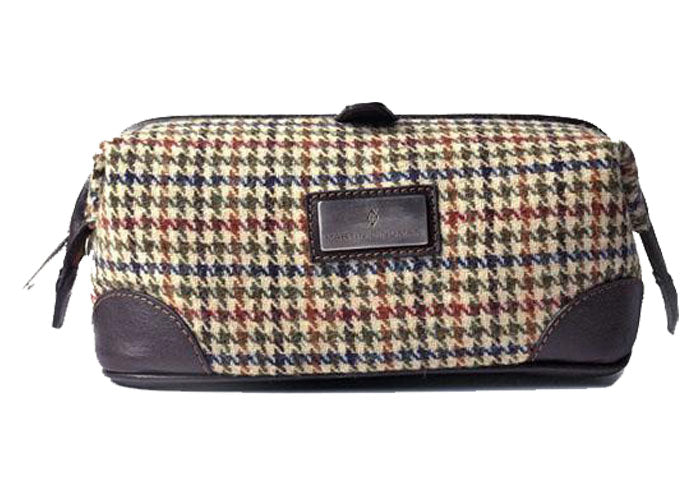 Official Harris Tweed Shave Case - Bone Houndstooth