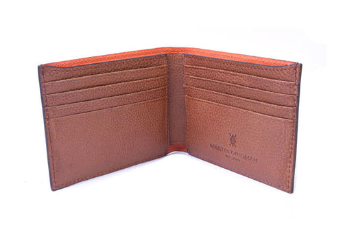 Anthony Hand Stained Alligator Grain Billfold - Brown