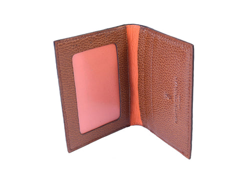 Anthony Hand-Stained Alligator-Grain I.D. Wallet - Brown