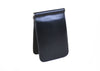 Edward Glazed Saddle Leather Credit Card Money Clip - Black
