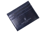 Edward Glazed Saddle Leather Executive I.D. Card Case - Black
