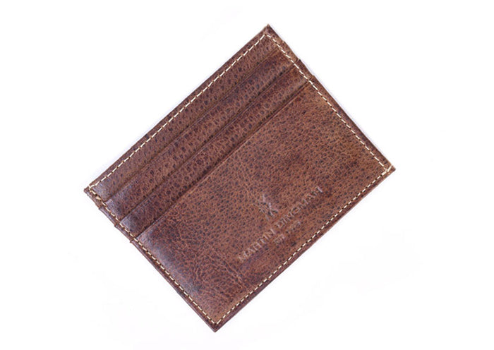 Bill Authentic Water Buffalo Leather Executive I.D. Card Case - Burnt Cedar