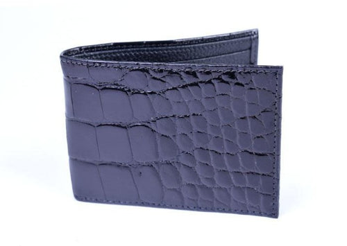 Jefferson Authentic American Alligator Billfold - Black
