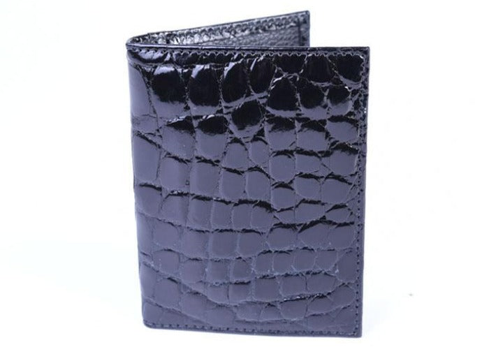Jefferson Authentic American Alligator I.D. Wallet - Black