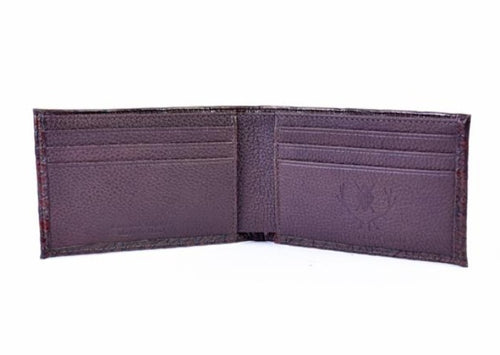 Jacob American Alligator Grain Billfold - Antique Chestnut