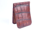 Jacob Genuine American Alligator Money Clip - Antique Chestnut