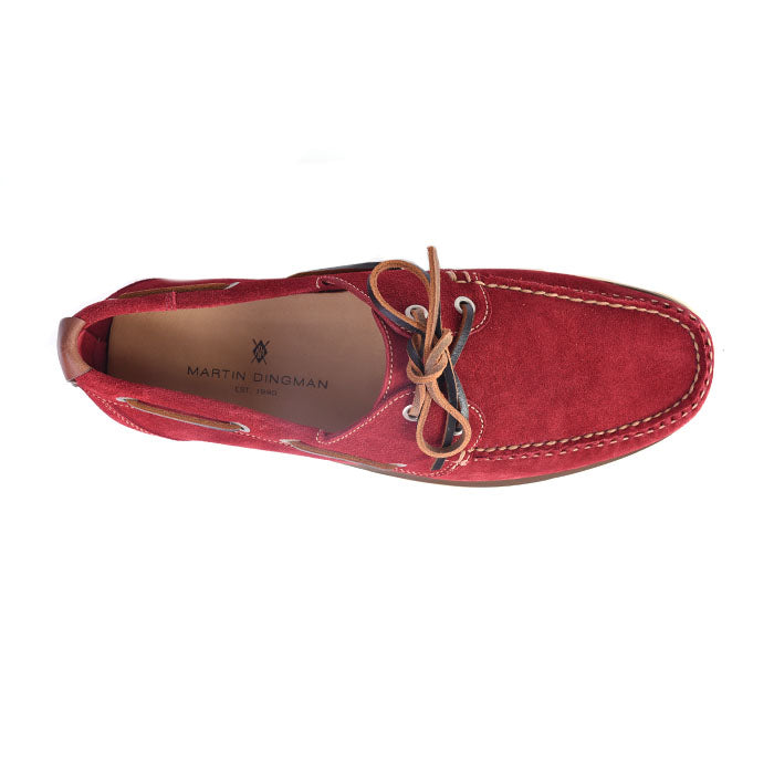 Newbury Camp Water Repellent Suede Moc - Red