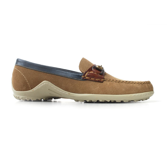 Bill Water Repellent Suede Horse Bit Loafer - Sand