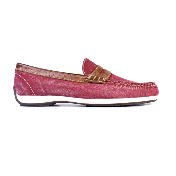 Seaside Washed Canvas Penny Loafer - Nantucket Red