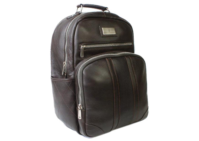 Rudyard Executive Tumbled Saddle Leather Backpack