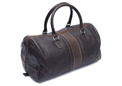 Rudyard Polocrosse Tumbled Saddle Leather Duffel Bag