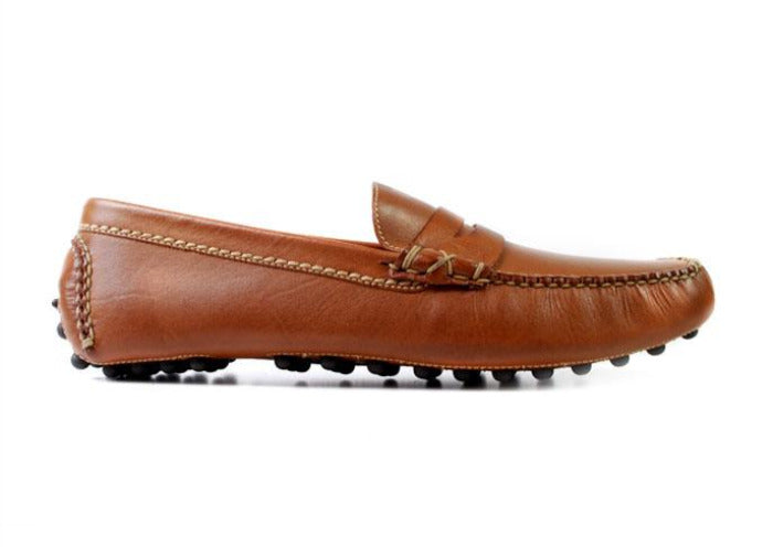 Peyton Glove Leather Lining Driver Penny Loafer - Saddle Tan