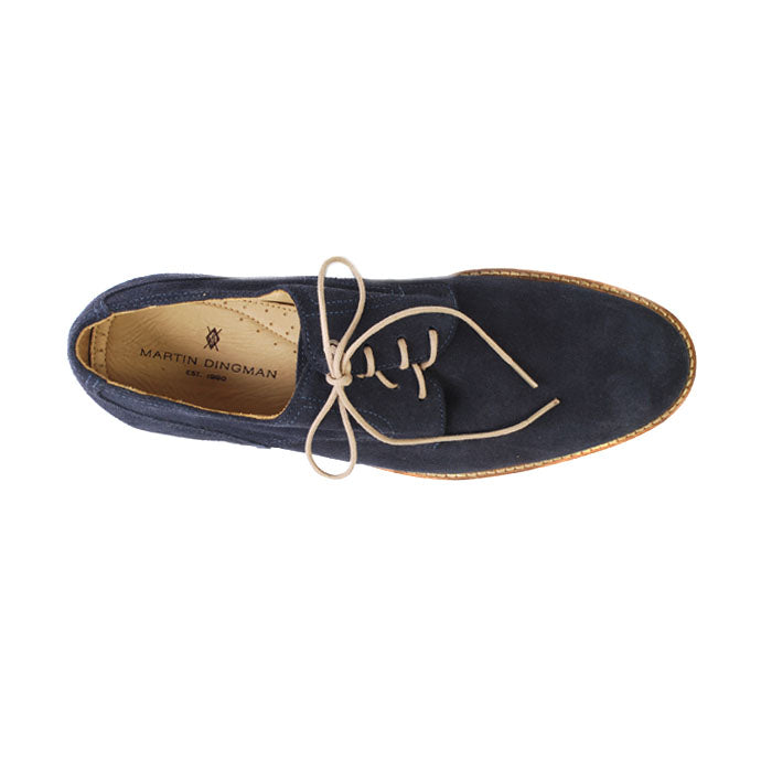 Edgar Plain Toe Lace-Up - Navy