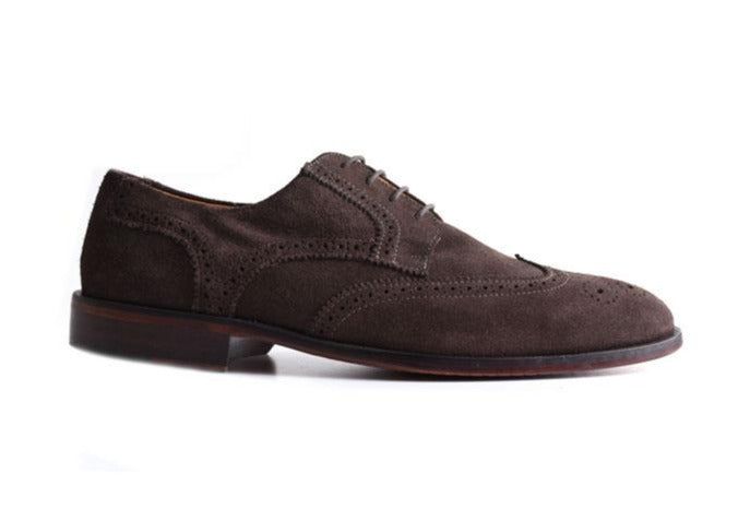 Charleston Dress Water Repellent Suede Oxford Wingtip - Walnut