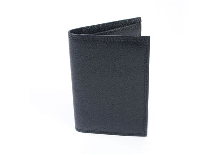 Classic Scotch-Grain Gusseted Card Case - Black