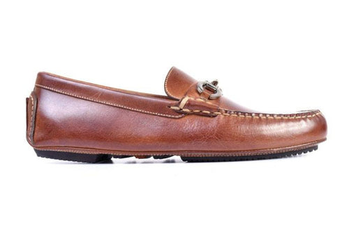 Old Row Oiled Saddle Leather Driving Horse Bit Loafer - Cigar