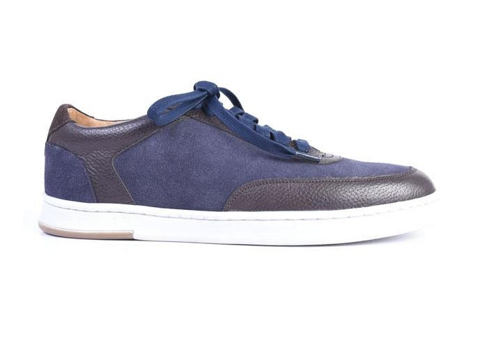 Harrison Water Repellent Suede Sneaker - Navy