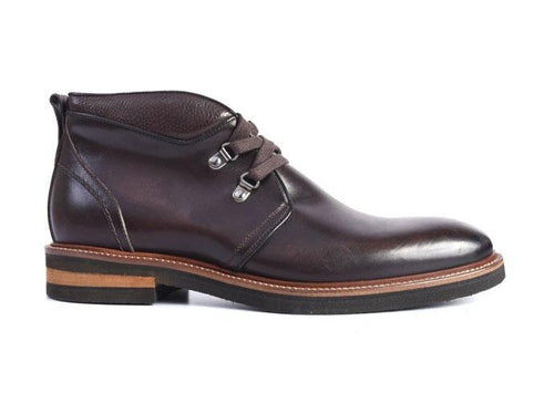 Tuscan Hand-Stained Italian Calf Leather Chukka Boot - Walnut