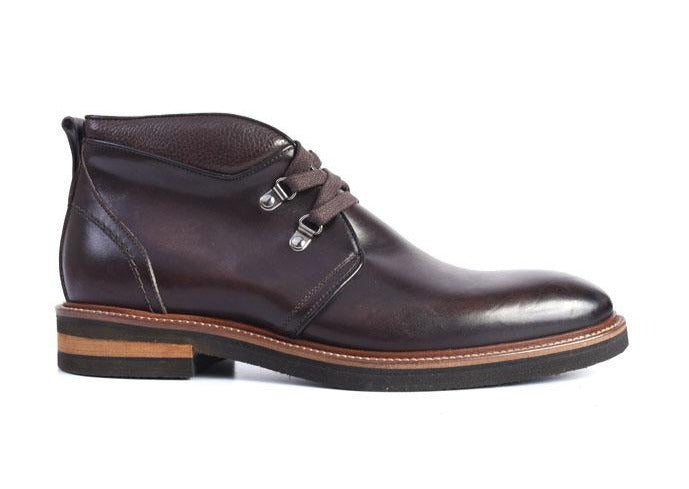 Tuscan Hand Stained Italian Calf Leather Chukka Boot - Walnut