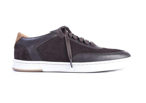 Harrison Water Repellent Suede Sneaker - Walnut