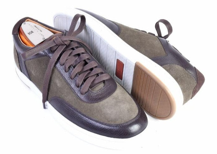 Harrison Water Repellent Suede Sneaker - Moss
