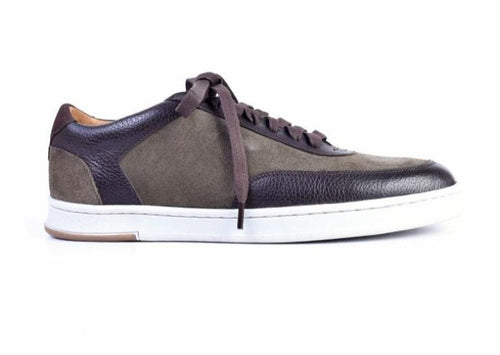 Harrison Water-Repellent Suede Sneaker - Moss