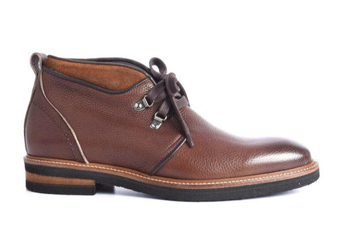 Tuscan Hand-Stained Italian Calf Leather Chukka Boot - Chestnut