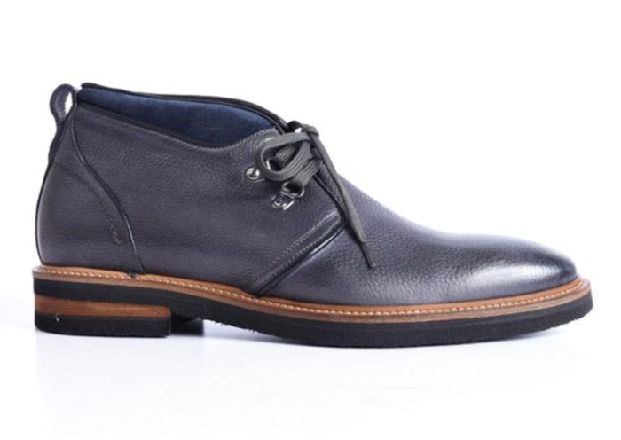 Tuscan Hand Stained Italian Calf Leather Chukka Boot - Graphite