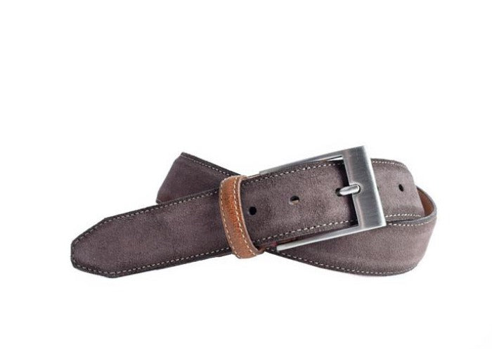 Royal Water Repellent Suede Belt - Walnut