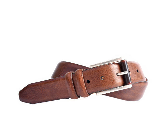 Hadley Italian Saddle Leather Belt - Oak