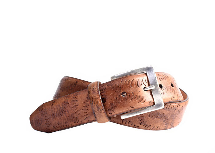 Erwin Vintage Cut Italian Saddle Leather Belt - Saddle Tan
