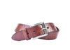 Artisan Inlay Cross-Cut Italian Bridle Leather Belt - Chestnut