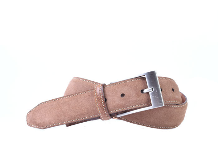 Royal Water Repellent Suede Belt - Tobacco