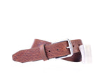 Sawyer II 2-Buckle Italian Bridle Leather Belt - Chestnut