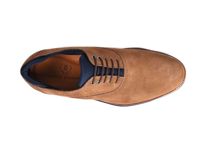 Countryaire Water Repellent Suede Plain Toe Lace-Up - Tobacco