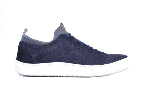 Cameron Water-Repellent Suede Sneaker - Midnight