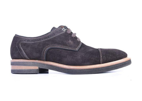 Tuscan Water Repellent Suede Cap Toe - Chocolate