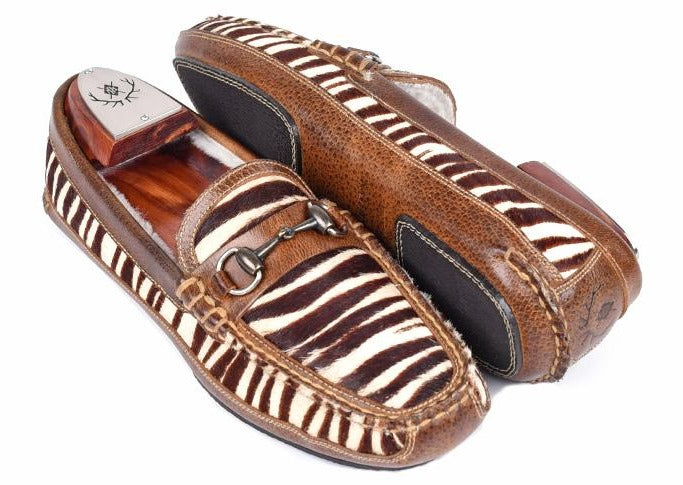 Country Comfort Slipper - White Zebra