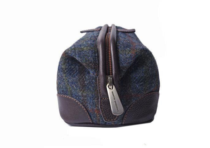 Official Harris Tweed Shave Case - Blue Plaid