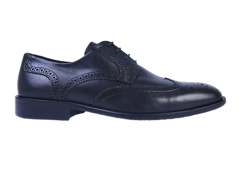 Charleston Dress Calf Leather Wingtip - Black