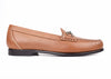Saxon Calf Leather Horse Bit Dress Loafer - Saddle Tan