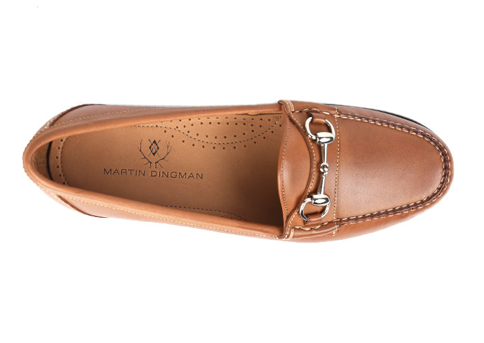 Saxon Dress Calf Leather Horse Bit Loafer - Saddle Tan