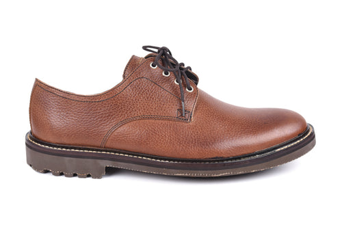 Safari Plain Toe - Oak (Pebble Grain Leather)