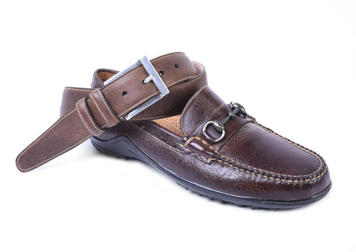 Bill Water Buffalo Leather Horse Bit Loafer - Walnut