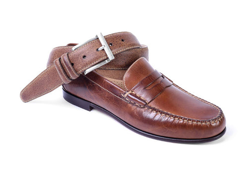 Old Row Oiled Saddle Leather Penny Loafer - Cigar