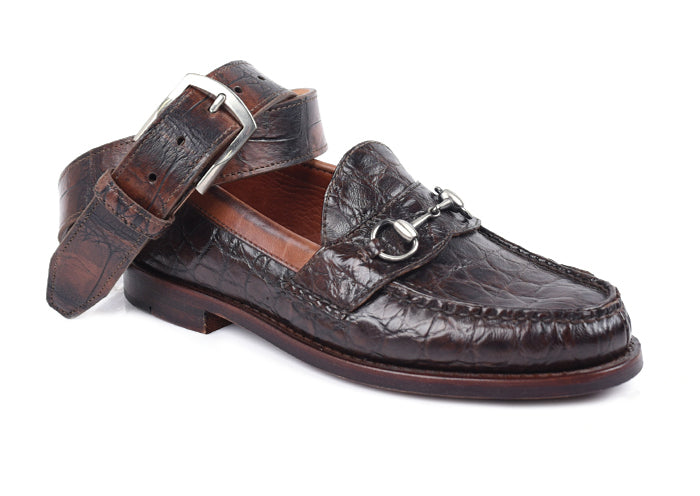 Jacob Genuine American Alligator Horse Bit Loafer - Antique Chestnut